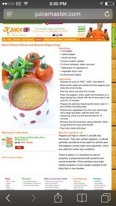 Juice master Jason Vale pepper soup