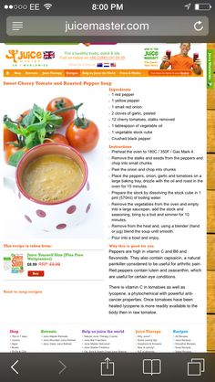 Juice master Jason Vale pepper soup