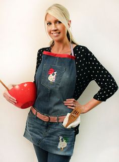 Free project instructions to make a denim apron