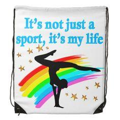BEAUTIFUL BLUE GYMNASTICS IS MY LIFE DESIGN DRAWSTRING BACKPACK http://www.zazzle.com/mysportsstar/gifts?cg=196751399353624165&rf=238246180177746410 #Gymnastics #Gymnast #WomensGymnastics #Gymnastgift