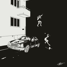 "blvck-serotonin: "" Brand New ~ Science Fiction (2017) Drawing by reddit user u/xstandforitx x """