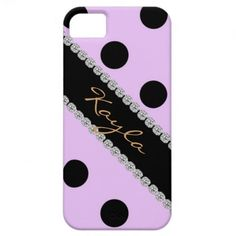 GIRLY I phone 5 COVER PURPLE POLKA DOTS  DESIGN iPhone 5 Cases