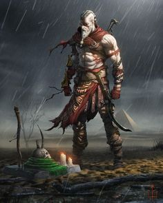 Tagged with art, gaming, anime, awesome, god of war; God of war Art Kratos God Of War, Viking Power, Viking Warrior, Character Concept, Character Art, Concept Art, Dnd Characters, Fantasy Characters, Viking Art