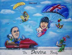 Caricatures, Pastel, Display, Canvas, Artwork, Pictures, Gifts, Mary, Portraits