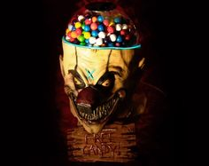This is the scary clown head gumball machine built by Jesse Wroblewski of Toy-Creator. You can have as many free gumballs as you want provided you don't mind taking them from the nose of a scary clown. Table Halloween, Halloween Clown, Halloween Horror, Halloween Themes, Halloween Stuff, Creepy Circus, Creepy Carnival, Creepy Clown, Zombies