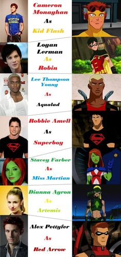 Ok so this is my fan cast for Young Justice. I did this out of bordom, and I did all the photoshop on the pictures to make the actors look more like the characters. Now if you actually care, here a...