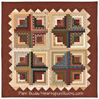 Heartland Crossing quilt from Journey One of the Prairie Women's Sewing Circle club by Pam Buda of HeartspunQuilts.com
