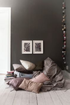 Black and pastel colours