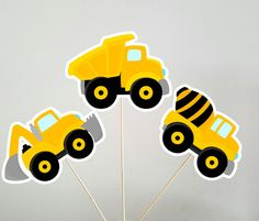 Construction Party Centerpieces, Construction Birthday Centerpieces, Dump Truck Centerpieces, Digger Centerpieces by CraftyCue on Etsy