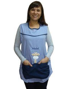 Guardapolvos Para Maestra Jardinera / Inicial - $ 860,00 en Mercado Libre Teacher Apron, Jumper, Marie, Hair Beauty, Blouse, Crochet, Womens Fashion, Jackets, Google