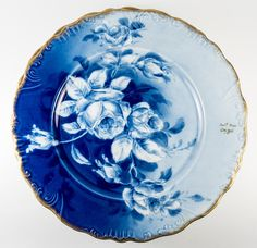 A stunningly beautiful hand painted set of 6 cabinet plates from Limoges, France. Signed by the artist, each is unique and distinct yet composes a set Stunningly Beautiful, Beautiful Hands, Beautiful Pictures, Hand Painted Plates, Decorative Plates, Blue Dishes, Antique Plates, Blue Bowl, Blue Things