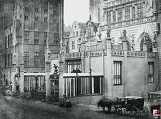 Dwór Artusa - Muzeum Historyczne Miasta Gdańska (Artushof), Gdańsk - 1861 rok, stare zdjęcia