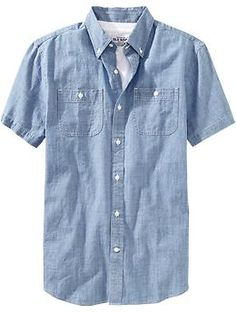 Mens Slim-Fit Chambray Shirts  Good for boys for wedding