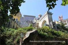 To see more pictures of Pena Palace please visit our Pena Palace Board Pena Palace, On A Clear Day, Sintra Portugal, Famous Landmarks, Palaces, More Pictures, Lisbon, Europe, Mansions