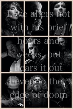 """Love alters not with his brief hours & weeks, but bears it out even to the edge of doom."" #SOA"