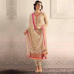 Buy Beige Straight Suits - Ethnic Suits Online Shopping at Peachmode