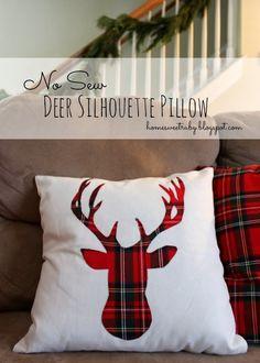 """DIY """"no sew"""" deer pillow"""