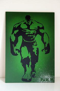 Incredible Hulk painting comic book Marvel comics by TheLogPile Hulk Sketch, Poster Color Painting, Hulk Comic, Batman Art, Incredible Hulk, Comic Books Art, Wood Art, Marvel Comics, Art Drawings