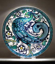 Piatto con pavone, Galileo Chini
