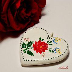 Přívěsek srdce s růží