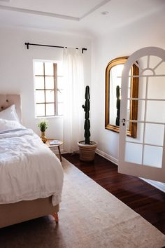 Wooden Flooring Designs Bedroom Beauteous Relaxed Neutral Bedroom With Dark Wooden Floors Wooden Furniture Design Ideas