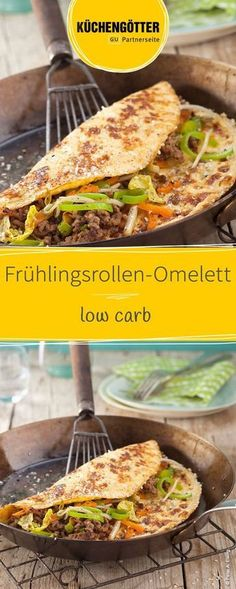 Frühlingsrollen-Omelett Low Carb Recipe for Spring Roll Omelette Related posts: Crispy Spring Rolls Spring rolls from the oven by A Thermomix ® recipe from … Spring Rolls Gluten Free Pull Apart Dinner Rolls Healthy Low Carb Dinners, Low Carb Soup Recipes, Low Carb Lunch, Low Carb Pizza, Low Carb Diet, Entree Recipes, Dip Recipes, Pork Recipes, Casserole Recipes