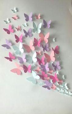 Papier muur 3D vlinder 3D Wall Art papier door LeCoquetterieShop