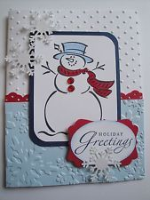 Frosty Christmas Card shimmer white paper for snowflakes --- use more bling… Christmas Cards 2017, Homemade Christmas Cards, Xmas Cards, Homemade Cards, Handmade Christmas, Christmas Snowman, Christmas Ideas, Snowman Cards, Winter Cards