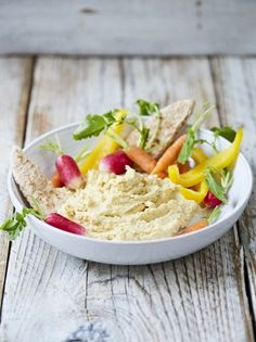 Create your own hummus with this delicious recipe that is high in protein and fibre and makes a great dip for crunchy veg, breadsticks or warm flatbread.