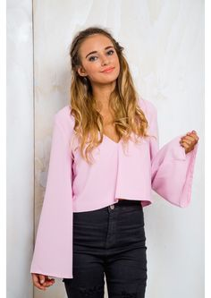 Cookie Crumble Womens Long Sleeve Top - Fairy Floss $42.00 Bell Sleeves, Bell Sleeve Top, Granddaughters, Long Sleeve Tops, Twin, Cookie, Fairy, Model, Fashion