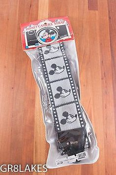 NEW / SEALED DISNEY Vintage Mickey Mouse 35mm Camera Strap Film Holders HIPPIE