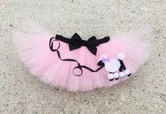 Pink Poodle skirt tutu baby pink tutu infant by LilNicks Kids Poodle Skirt, Poodle Skirt Costume, Tutu Costumes, Black Ribbon, Ribbon Bows, Puppy Birthday, Birthday Bash, Pink Poodle, Pink Tutu
