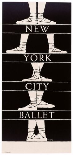 "Poster, ""New York City Ballet"", 1960's Edward Gorey."