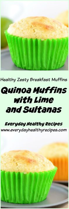 Quinoa muffins with lime and sultanas idei de Kid Muffins, Quinoa Muffins, Breakfast Muffins, Clean And Delicious, Tasty, Muffin Tin Recipes, Sweet Recipes, Easy Recipes, Healthy Recipes