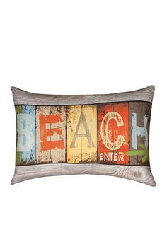 Manual Woodworkers Life at the Beach Decorative Pillow