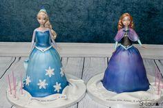 Gâteau La Reine des neiges \ Frozen pour des jumelles