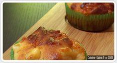Recette sans gluten : muffin salé artichaut / parmesan