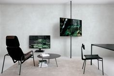 extendo wall-mount profile and extendo extendable profile with monitor support rods for TV