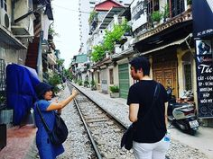 We learned so much about this famous railway street and its inhabitants from our private guide in Hanoi Hanoi Vietnam, Vietnam Travel, Street, Vietnam Destinations, Walkway