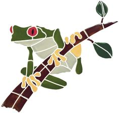 Ceramic Tree Frog Mosaic