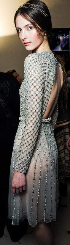 Valentino backstage. I'm obsessed with his way to make such timeless sophistication in his designs. Beautiful.