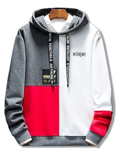ZAFUL Color Block Cool Hoodie - Men's style, accessories, mens fashion trends 2020 Stylish Hoodies, Cool Hoodies, Hoodies For Men, Hoodie Sweatshirts, Hoodie Outfit, Hoodie Jacket, Sweat Shirt, Black Hoodie, Shirt Designs