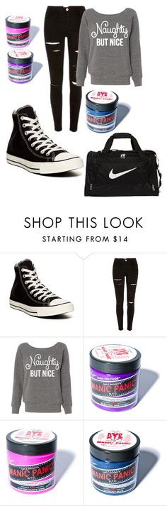 """""""Naughty but nice"""" by kayleighmw on Polyvore featuring Converse, Manic Panic and NIKE"""