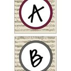 Bulletin board letters for music lovers :)