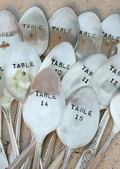 Spoon table numbers - I think I've seen these somewhere before... HINT HINT.. :)