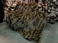 Real Russian Sable Fur Blanket.