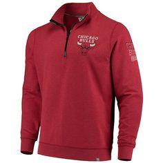 Men's Chicago Bulls '47 Red Peak Quarter-Zip Jacket