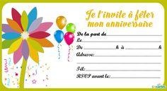 Création Carte D Invitation Anniversaire Gratuite
