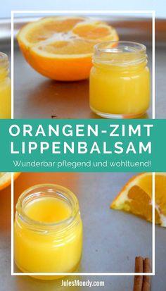 Wenn auch du im Winter zu trockenen Lippen neigst, dann ist dieser herrlich pflegende Orangen-Zimt Lippenbalsam perfekt für dich!