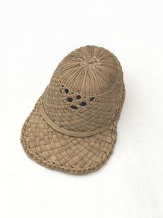 Handmade Straw Baseball Cap /  Woven Straw Hat / Natural Organic Cap Hat / Vegan Sports cap / Rustic Sun Hat / Vegan Accessories by 626Vintage on Etsy